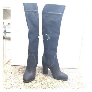 NWT Antonio Melani Black Suede Knee High Boots